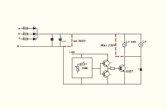 Regulator o�wietlenia na IGBT