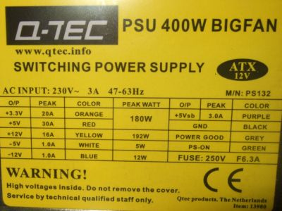 Q-TEC model: PS-122 BIG FAN 400W nie startuje