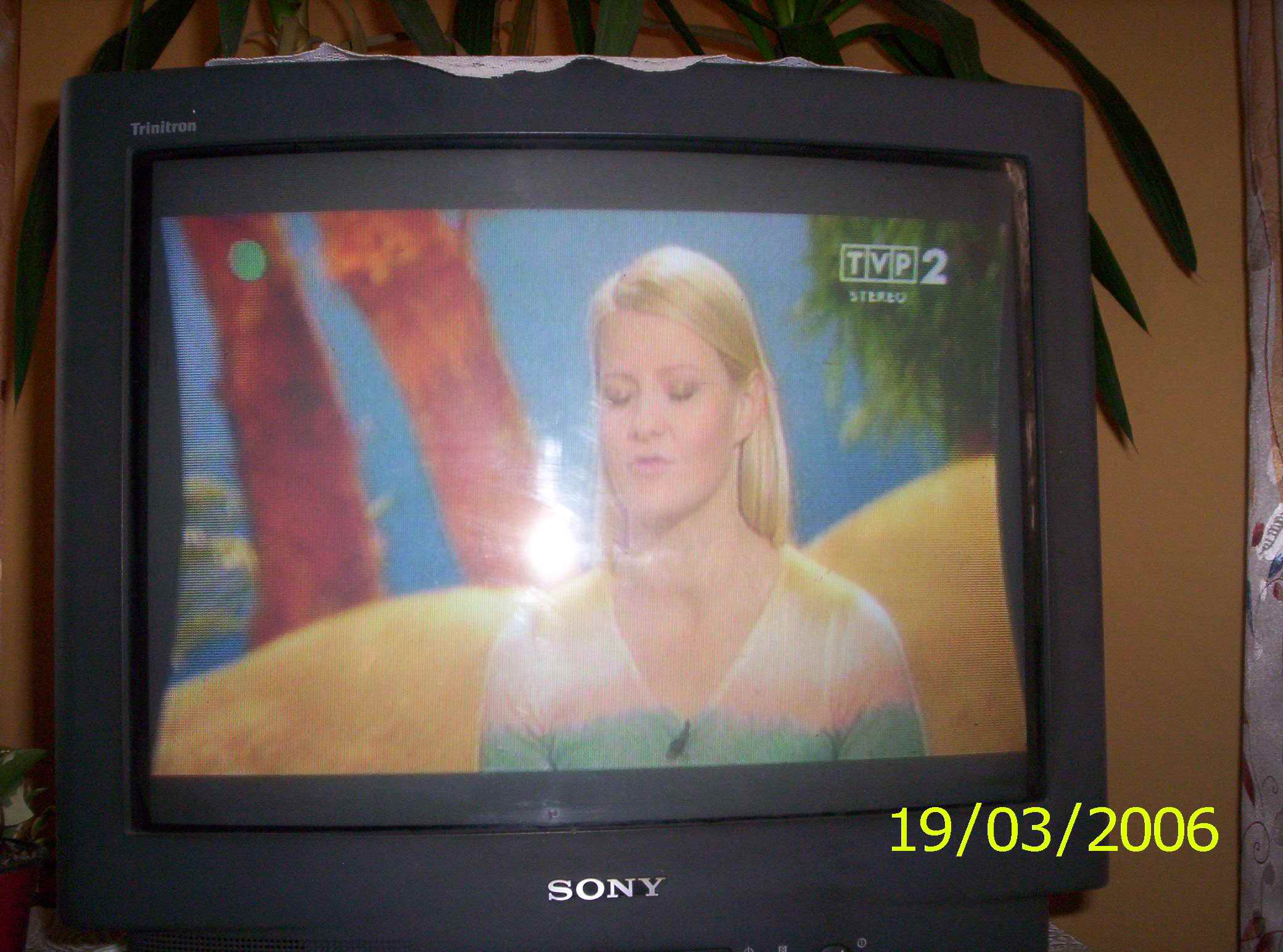 TV Sony KV-M2171K - obraz zw�ony, wkl�s�y do �rodka.