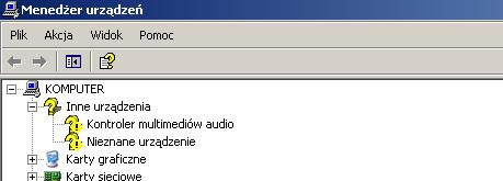 Problem ze sterownikami Realtek ALC655 @ VIA AC'97 Enhanced