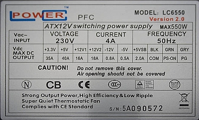 LC Power model: LC6420 - brak reakcji na PWR-ON