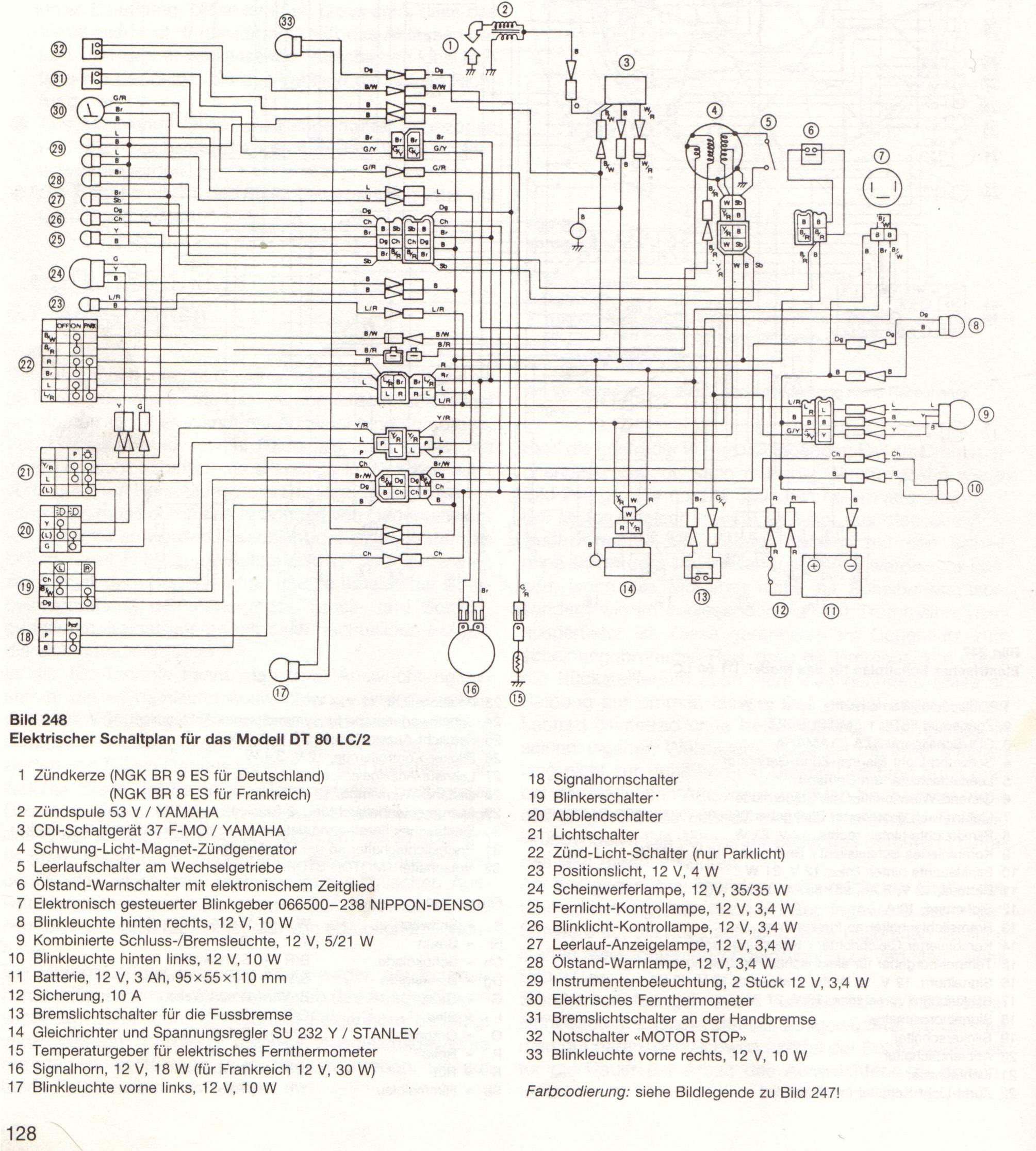 Yamaha Dt 125 Wiring Diagram Trusted For Dt125r And Schematics 400