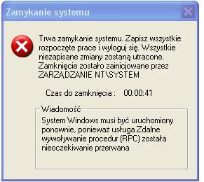 Windows sam sie zamyka.