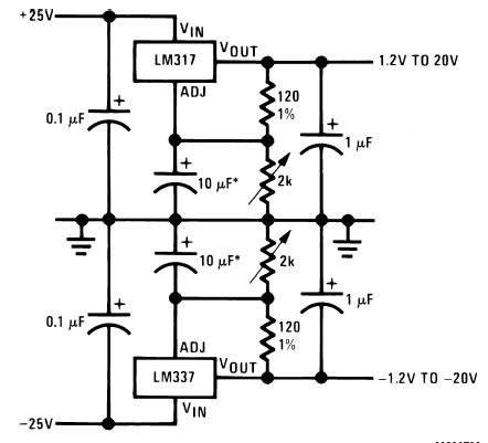 ...power supply circuit. lm317-lm337-variable-power supply circuit.