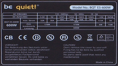 Be Quiet model: BQT E5-600W jak rozebra� PSU, elektrolity?