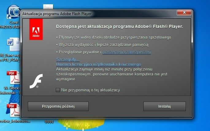 Nie mog� zainstalowa� Adobe Flash Player