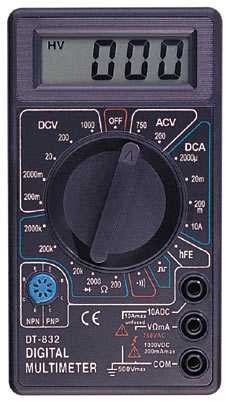 Obs�uga miernika DIGITAL MULTIMETER DT-832