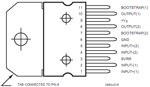 ...If you need more pinouts please download TDA7391's pdf datasheet.