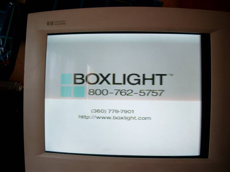 Problem z projektorem Boxlight Revolution 3700.