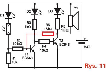 How to calculate threshold voltage for this ambient-light switch