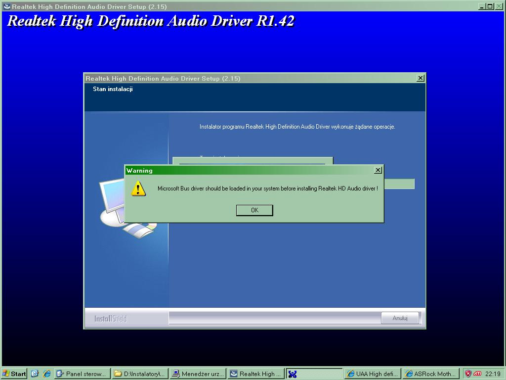 Microsoft bus driver should be loaded in your system before