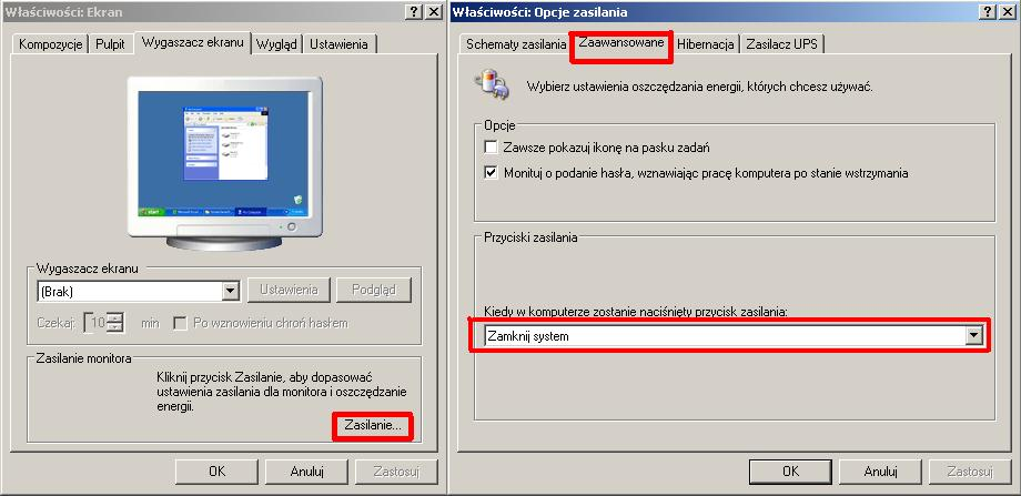 System Windows XP Professional SP3 nie zamyka si�