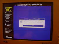 Problem z instalacj� systemu Windows 98SE