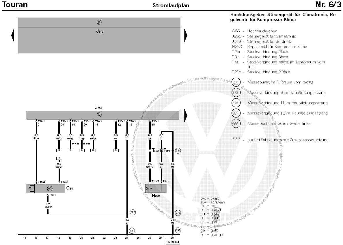 heating system diagram 2005 volkswagen passat