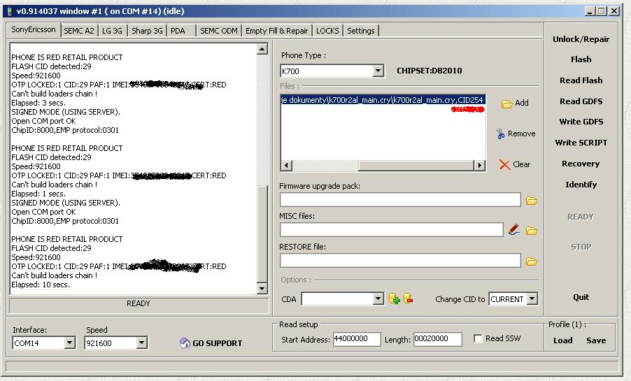 Setool - unlock i flash Sony Ericsson, LG, Sharp