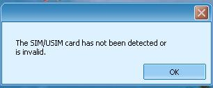 Huawei E156G The SIM/USIM card has not been detected...