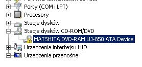 znikn�� CD-ROM w windows Vista