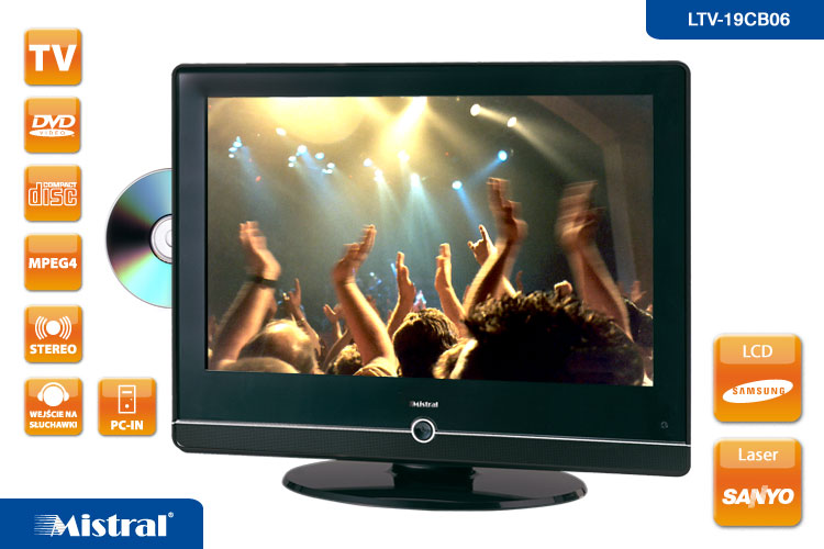 Nowy Mistral TV LCD + DVD + MONITOR