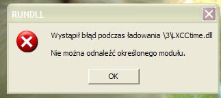 Windows XP b��d �adowania LXCCtime.dll